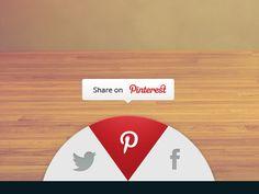 UI Design Dribbble - Share widget by Tiberiu Neamu