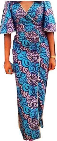 Tenue Wax moderne : Mode Africaine - Tenue Wax et Dashiki sur le site de la mode africaine en France : Sagnse france - wax pas cher African Maxi Dresses, Latest African Fashion Dresses, African Dresses For Women, African Print Fashion, Africa Fashion, African Attire, African Wear, African Women, Ankara Stil