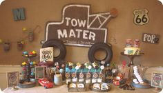 Vintage Radiator Springs Cars Birthday Party Theme Third 3rd Tow Mater Lightning McQueen Disney