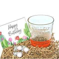 Bulleit Bourbon Gift - Happy Birthday Gift Box with Man Cave Bowl – Looking Sharp Cactus LLC Whiskey Gifts, Bourbon Gifts, Wine Gifts, Candy Bowl, Candy Dishes, Liquor Bottles, Liquor Bottle Crafts, Cactus Gifts, Succulent Gifts
