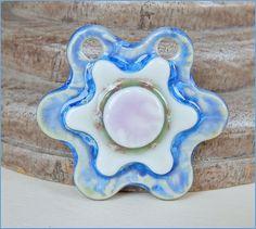 "Porcelain Pendant "" Purple-Blue""  https://www.facebook.com/groups/CeramicArtBeadMarket"