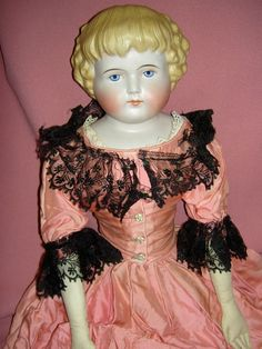 Alt Beck & Gottschalck Germany c1870 unglazed bisque (parian) shoulderhead child