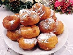 z cukrem pudrem: pączusie z serka waniliowego Pretzel Bites, Sweet Recipes, Donuts, Muffin, Bread, Breakfast, Kuchen, Frost Donuts, Morning Coffee