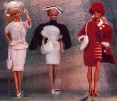 Herbie's Doll Sewing, Knitting & Crochet Pattern Collection: Barbie Size Knitting Pattern for 3 Outfits