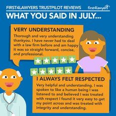 We received lots of great Trust Pilot reviews in July, here are a couple of our favourites