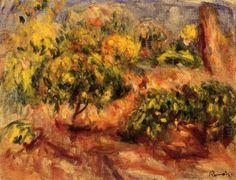 Oil painting reproduction: Pierre Auguste Renoir Cagnes Landscape 1919 - Artisoo.com