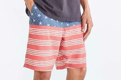 July 4th board shorts from Urban Outfitters