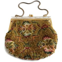 Beaded Tapestry Purse Hand Made in Hong Kong by EclecticVintager