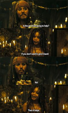 i love captain jack sparrow :) I just watched this movie tonight