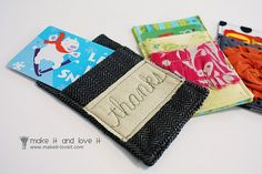 Gift Card Cozy by MakeItLoveIt. DIY - includes full tutorial and pictures.