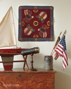 Wool Appliqué Folk Art: Traditional Projects Inspired by 19th-Century American Life by Rebekah L. Smith #WoolAppliqueFolkArt
