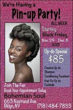 Pin Up Party Natural Hair Styles Bohemian Soul Studio
