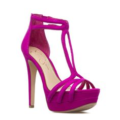 Jessica Simpson fuchsia heel sandal