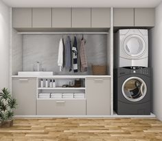 Hardware Resources shares 6 quick tips for organizing a multipurpose . - Hardware Resources shares 6 quick tips for organizing a multipurpose washroom # design - Laundry Cupboard, Laundry Closet, Laundry Room Organization, Laundry In Bathroom, Laundry Hamper, Organizing, Laundry Nook, Laundry Cart, Utility Closet
