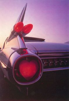 """1959 Cadillac fin, to illustrate a """"Happy Valentine"""" card 1959 Cadillac, Tail Light, Hot Rods, Artworks, Classic Cars, Valentines, Seasons, Holidays, Vehicles"""