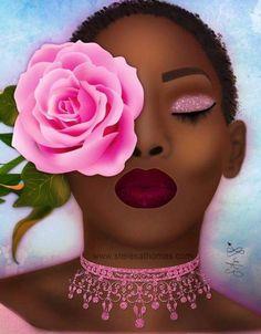 pin: l i s s e t t e✨💜 Black Love Art, Black Girl Art, My Black Is Beautiful, Beautiful Artwork, Black Girl Magic, Art Girl, Simply Beautiful, Arte Black, Black Art Pictures