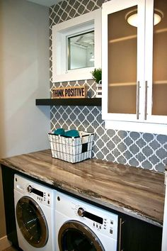 Popular Small Bathroom Remodel Decorating Ideas - Inspiring Home Laundry Room Design, Small Laundry Rooms, Laundry Room Organization, Small Bathroom, Laundry Room Inspiration, Laundry Room Remodel, Metal Building Homes, Kabine, Paint Colors For Living Room
