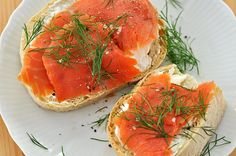 Smoked Salmon and Cream Cheese Open-Face