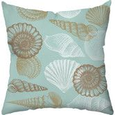 Found it at Wayfair - Shell Outdoor Throw Pillow