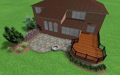 Rochester Hills deck and patio design idea.