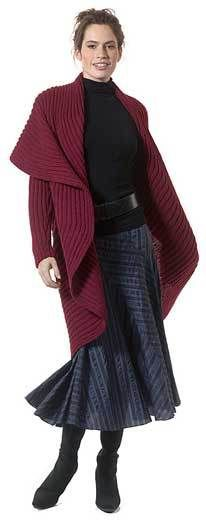 Free knitting pattern for Radha coat shrug and more free knitting patterns for jackets and coats at http://intheloopknitting.com/jacket-and-coat-knitting-patterns/