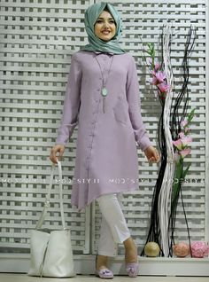 islamische kleidung fuer frauen mymodestystyle.com besuchen sie unsere shop #hijab #abayas #tuekische kleider #abendleider #islamischekleidung  Asymmetric Tunic - Lilac - Gamze Polat - <p>Fabric Info:</p> <p>100% Polyester</p> <br> <p>Weight: 0.5 kg</p> <p>Measures of 38 size:</p> <p>Height: 100 cm</p> <p>Bust: 96 cm</p> <p>Waist: 120 cm</p> <p>Hips: 96 cm</p> - SKU: 218596. Buy now at http://muslimas-shop.com/asymmetric-tunic-lilac-gamze-polat.html