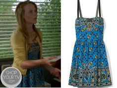 Shop Your Tv: Switched at Birth: Season 2 Episode 14 Daphne's Blue Print Dress