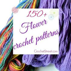 150 Beautiful Flower #Crochet Patterns and Nature Patterns, PLUS a dozen IDEAS for how to use them! #diy #flowers