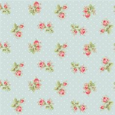 Cath Kidston makes flooring. Maybe if I don't eat for a few years I can afford it.  Blue Rose Sprig Tiles906-766-99-1 £39.95