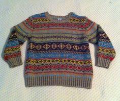 Boys' Crew Multicolor Pullover Sweater Old Navy Sz 5T   eBay