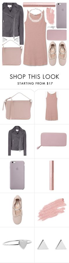 """blushed"" by foundlostme ❤ liked on Polyvore featuring Dolce&Gabbana, MANGO, Want Les Essentiels de la Vie, Valentino, Jane Iredale, Jennifer Meyer Jewelry, blush and motojackets"