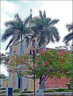 parish church of Santa Ana. Yucatan.