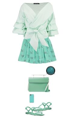 """""""mint"""" by ecem1 ❤ liked on Polyvore featuring Boohoo, Rebecca Minkoff, M2Malletier and OtterBox"""