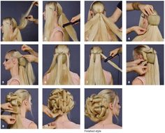 Pressed Ribbons Updo Step-by-step