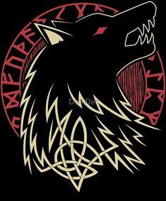 nordic tattoo mythology wolves / nordic tattoo mythology - nordic tattoo mythology tree of life - nordic tattoo mythology norse symbols - nordic tattoo mythology vikings - n Fenrir Tattoo, Norse Tattoo, Viking Tattoos, Tattoo Symbols, Viking Tattoo Symbol, Irish Tattoos, Viking Symbols, Viking Art, Viking Warrior