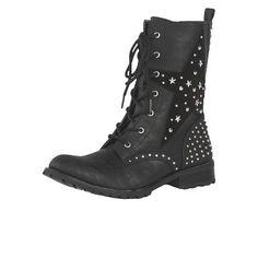 Girl's Gia-Mia Star Combat Boots