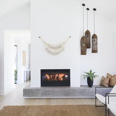 Jetmaster Fireplace, Double Sided Fireplace, Bedroom Fireplace, Fireplace Remodel, Living Room With Fireplace, Fireplace Surrounds, Double Sided Stove, Concrete Fireplace, Fireplace Ideas