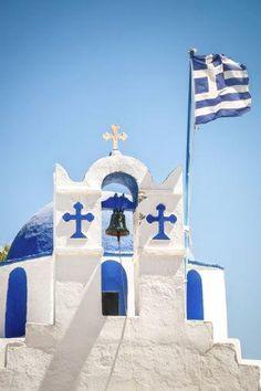 Greek Orthodox Church, Paros Island, Greece.