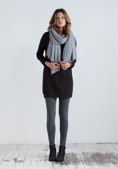 Leggings in Dark Grey Marl from hush