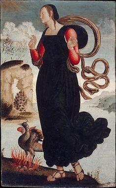 Hope - The Theological Virtues: Faith, Charity, Hope Artist: Italian (Umbrian) Painter (ca. 1500)