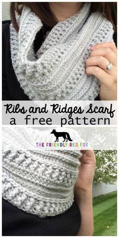The Ribs and Ridges Scarf Free Crochet Pattern with video tutorial!