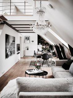 dachwohnung dachgeschosswohnung architektur innenarchitektur haus umbau dachboden wohnraum wohnzimmer ideen