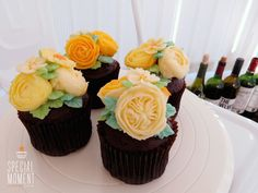 +Choco chocolate flower buttercream cupcake for Mother-in-law's friend/butter cream cake/wedding cupcakes/cupcake decorating tips ... made by SPECIAL MOMENT