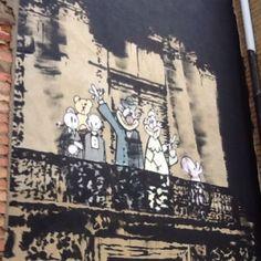 Banksy artwork in Church Street, Stoke Newington, North London