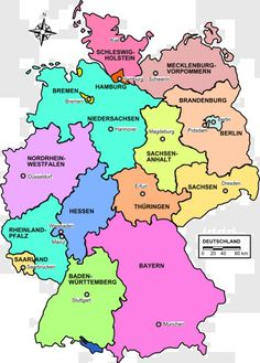 german state map love germany and want to go back