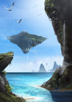 the_floating_island_by_artofkiko-d576dis.jpg (751×1063)
