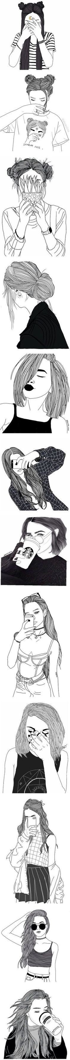 """""""black line drawings"""" by xxharrietxx ❤️ liked on Polyvore"""