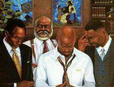 Real Men Pray. African American Artwork, American Artists, Afrique Art, Black Love Art, Black Man, Black Girls, Black Art Pictures, Black Artwork, Afro Art