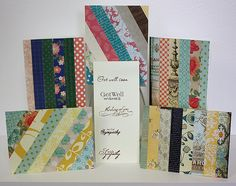 easy cards made from patterned paper scraps.  seriously considering doing this...
