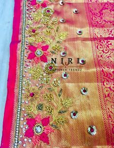 Multi Threading, Thread Work, Work Blouse, Designer Sarees, Blouse Designs, Embroidery, Quilts, Needlepoint, Quilt Sets